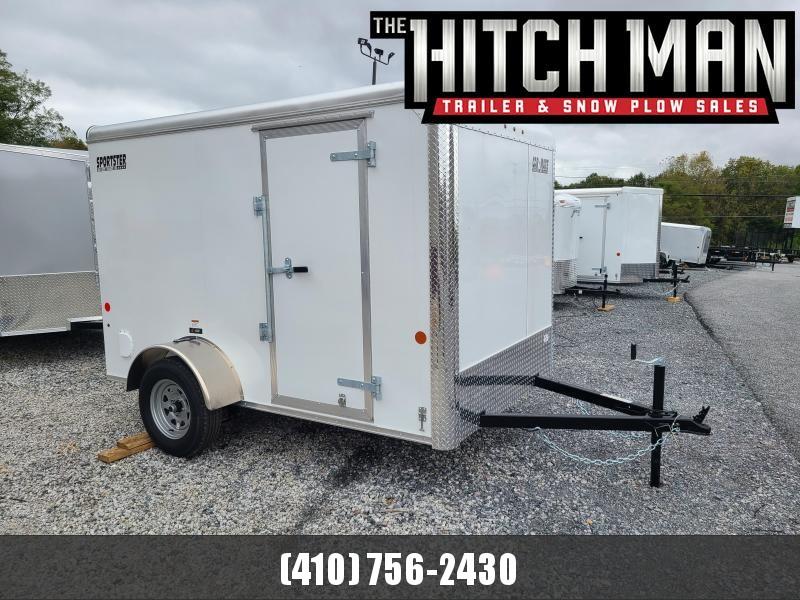 6 x 10 Car-Mate Sportster Enclosed Cargo Trailer 3K  ***White w/Ramp Door