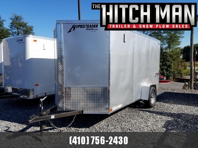 6 x 12 Homesteader Intrepid V-Nose Cargo Trailer 3k  **Silver w/ Ramp Door Package