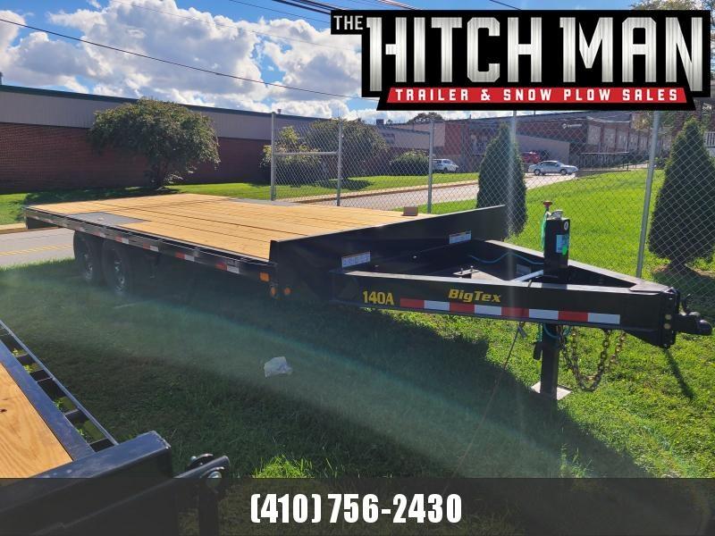8.5' x 20' Big Tex Flatbed Deck Over Equipment Trailer, 14K  ***8' Slide-in Ramps