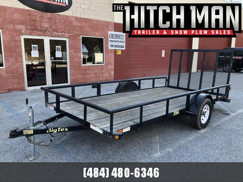 USED 2018 Big-Tex 6-4x14 Utility Trailer 3k