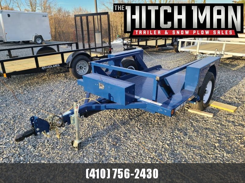 "4'4"" x 8'6"" Air-Tow S8-32 Single Axle Drop Deck Equipment Flatbed 4900k"