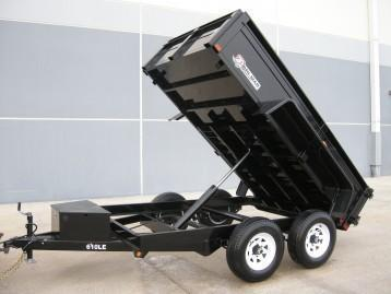 6 x 12 Bri-Mar LE Series Low Profile Dump Trailer, 10K  ***w/ Landscape Gate