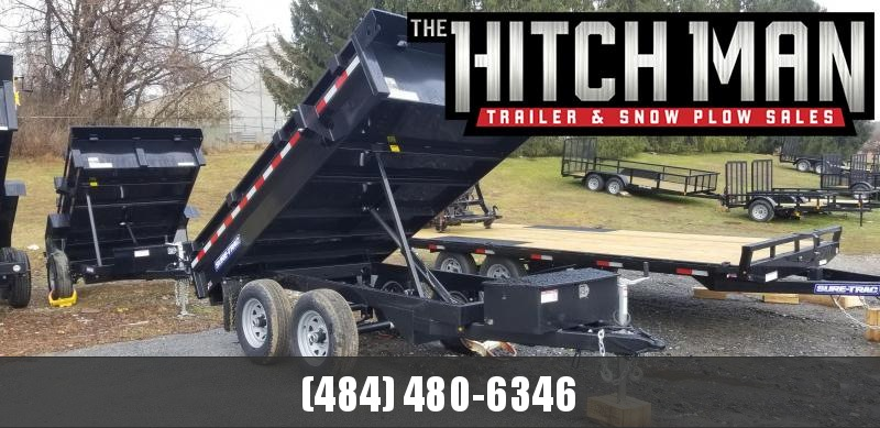 6 x 10 Sure Trac Deckover Dump Trailer 10k