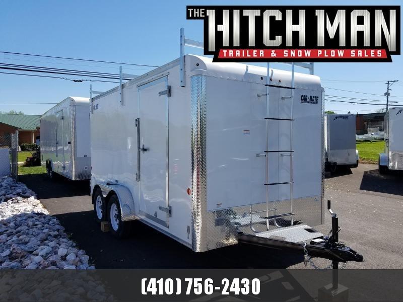 7 x 14 Car-Mate Contractor Cargo 7k  **White w/ Contractor Pkg #1