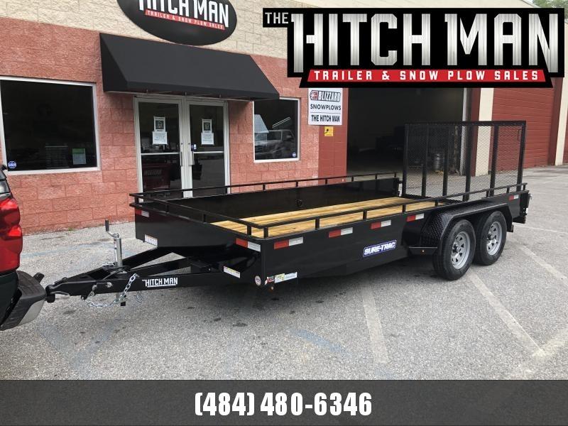 7 x 16 Sure-Trac Steel High Sides 7k