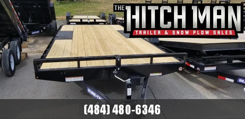 8.5 x 18 Sure-Trac Low Profile Flat Deck Deckover 10k