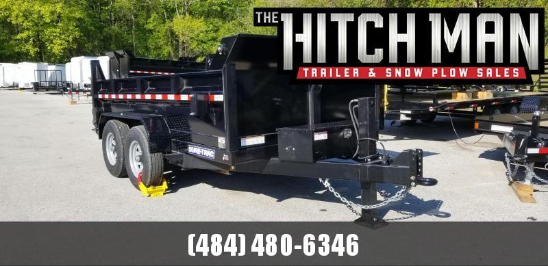 Sure-Trac 82in x 12 LProfile  Dual Ram Dump 12k w/Hyadraulic Jack