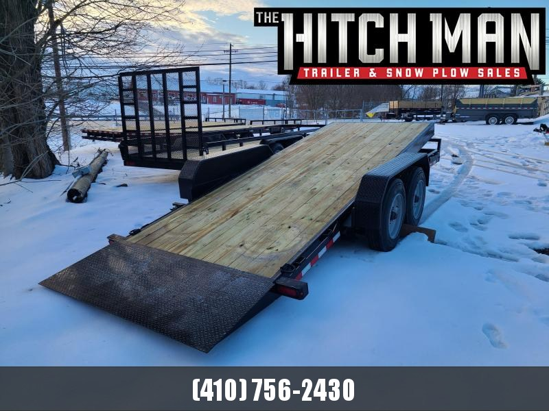 7 x 18 Sure-Trac Tilt Bed Equipment Trailer 16k