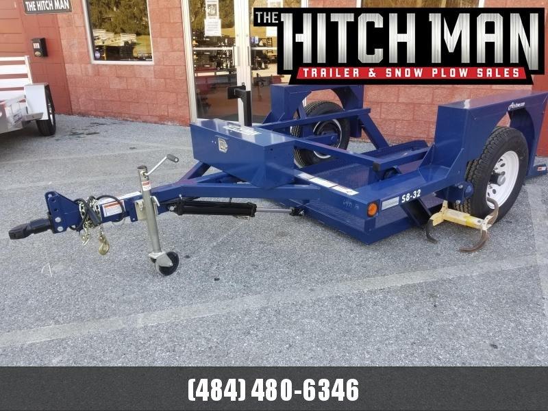 "4'4"" x 8'6"" Air-Tow S8-32 Single Axle Drop Deck Equipment Flatbed 4900k"