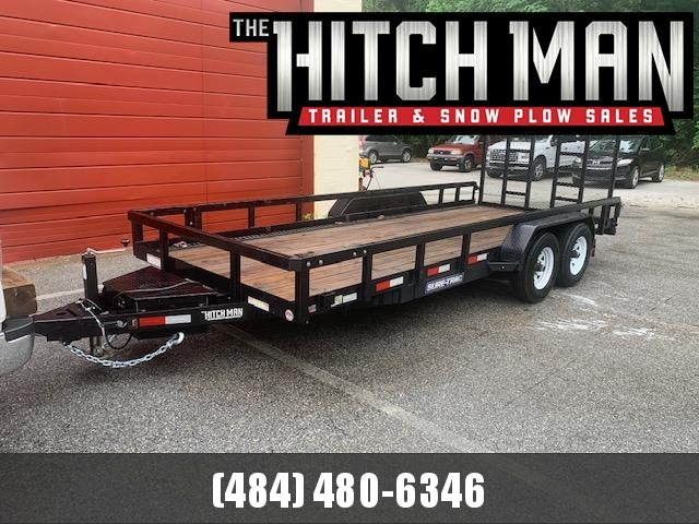 Used 2019 Sure-Trac 7 x 18 Tube Top Utility Trailer 10k