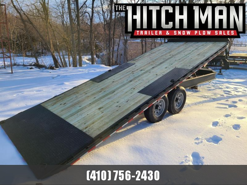 8.5 x 22 Sure-Trac HD Power-Tilt Deck Over Equipment Trailer 15K