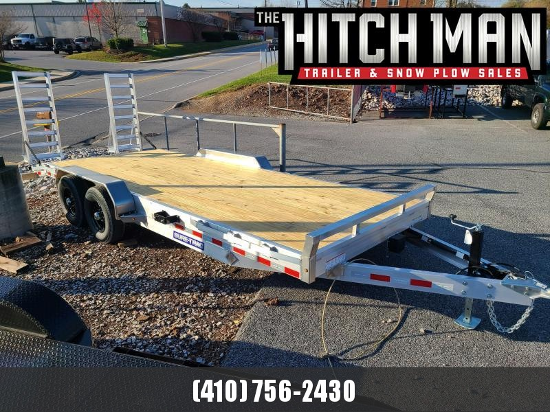 7' x 20' Sure-Trac Aluminum Equipment Trailer 10K