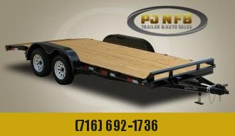 "2021 Quality Trailers 82"" x 20' (18' + 2' Dove Tail) General Duty Wood Deck Car Hauler 10K Car / Racing Trailer"