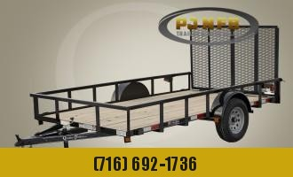 "2021 Quality Trailers 77"" x 12' Single Axle Professional Grade Utility Trailer Utility Trailer"