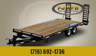 "2021 Quality Trailers 96"" x 20' (16'+4' Dove Tail) General Duty Deckover 10K Equipment Trailer"