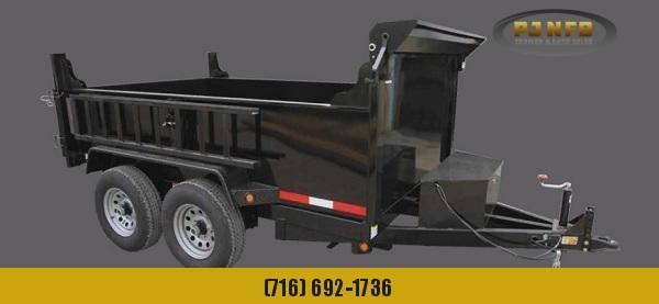 2020 Quality Steel and Aluminum 7212D10K 6 x 12 10K Low Profile Dump Dump Trailer