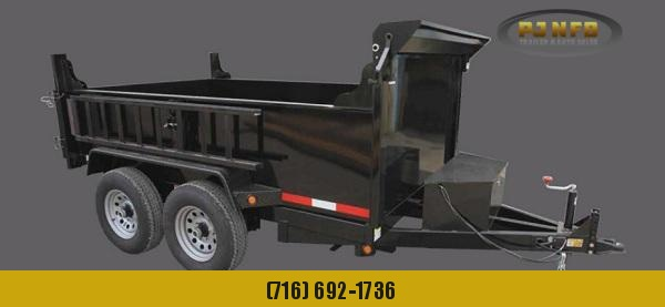 2021 Quality Steel and Aluminum 7212D10K 6 x 12 10K Low Profile Dump Dump Trailer