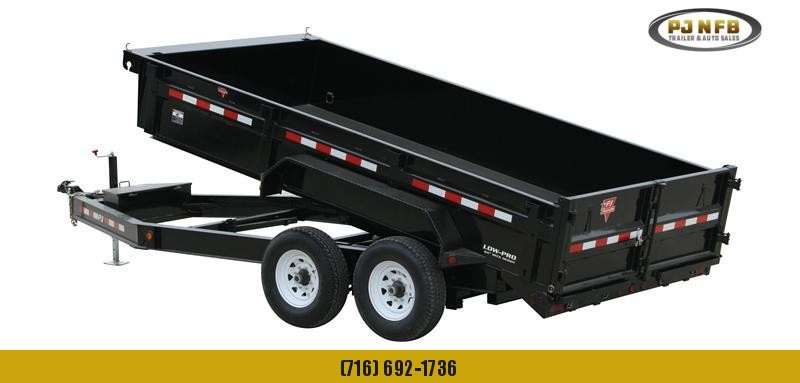 "2021 PJ Trailers 16'x83"" Low Pro Dump Trailer"