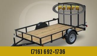 "2021 Quality Trailers 60"" x 10' Single Axle Economy Series Utility Trailer Utility Trailer"