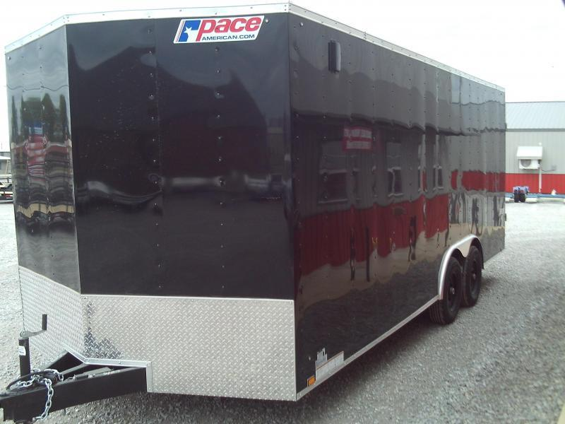2021 Pace American NEW 2021 8.5X20 + V NOSE ENCLOSED TRAILER Car / Racing Trailer
