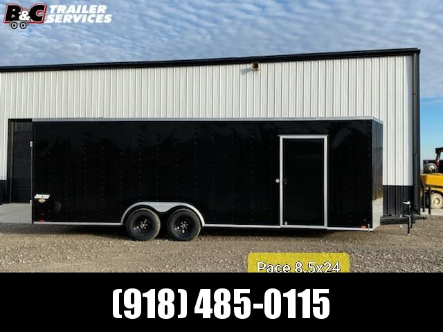 NEW 2022 8.5X24 + V NOSE ENCLOSED TRAILER