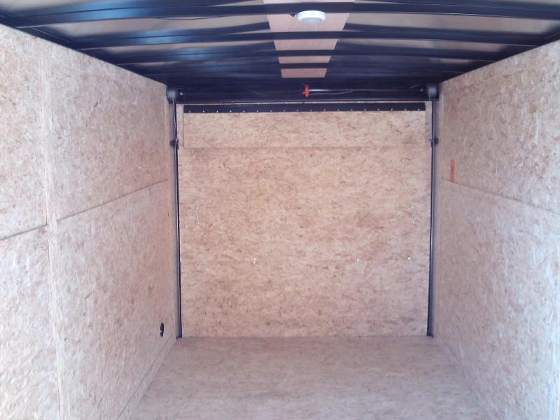 NEW 2021 7X14 + V NOSE  PACE AMERICAN ENCLOSED TRAILER W\ BARN REAR DOORS