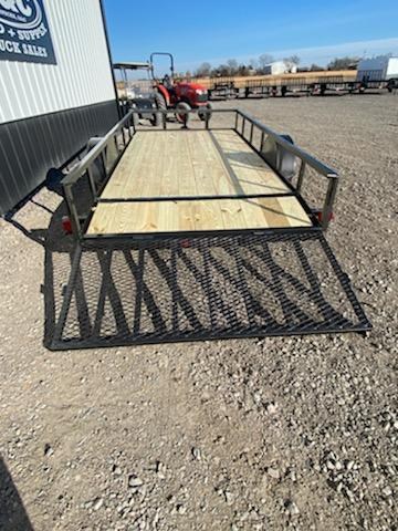 New 2020 Longhorn 77 X14Utility Trailer 2' Dove Tail & 4' Gate