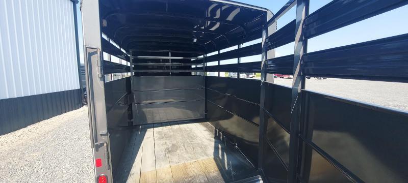 2021 Delta Manufacturing NEW DELTA 16X6X6.6 LIVESTOCK TRAILER Livestock Trailer