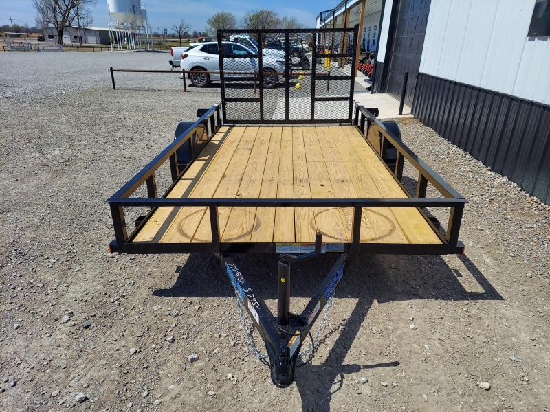 2021 Top Hat Trailers 77X14 WITH 4' LAY IN GATE Utility Trailer