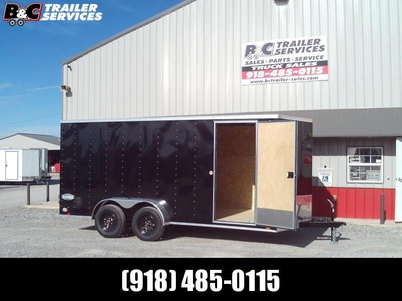 NEW 2021 7X14 + V NOSE  PACE AMERICAN ENCLOSED TRAILER W\ RAMP REAR DOOR