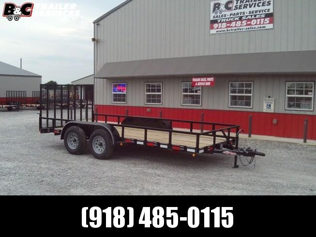 "New 2019 Longhorn Trailers 77""X14' Tandem Axle Utility Trailer 3500# Axles"