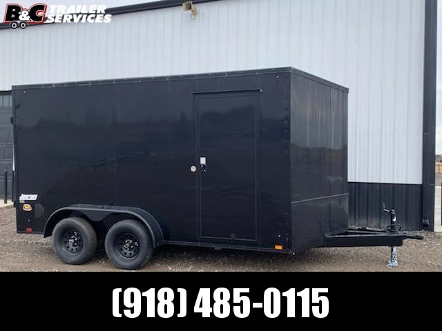 7x16 + V NOSE w\ 7' interior height blackout package