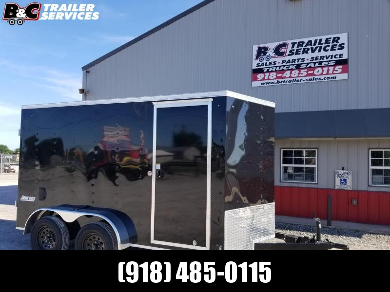 NEW 2012 PACE AMERICAN 7X12 +   V NOSE ENCLOSED CARGO TRAILER W\ BARN REAR DOORS