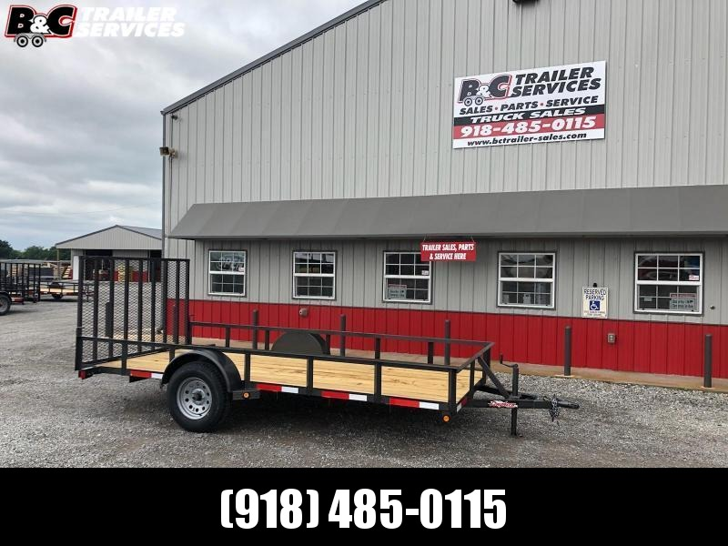 2020 Longhorn Trailers 77X14 SINGLE AXLE UTILITY TRAILER W\ 4' GATE Utility Trailer