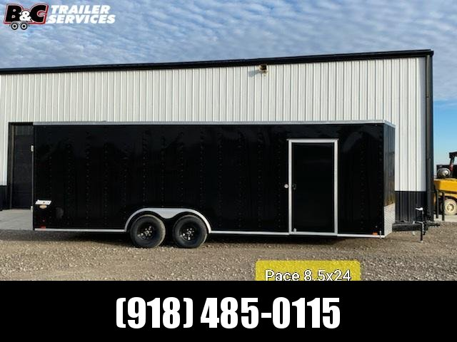 NEW  8.5X24 + V NOSE ENCLOSED TRAILER