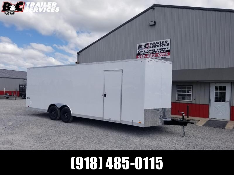 NEW 2021 8.5X24 + V NOSE ENCLOSED TRAILER