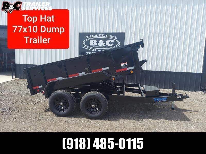 2021 Top Hat Trailers NEW 10X77 TOP HAT DUMP TRAILER Equipment Trailer