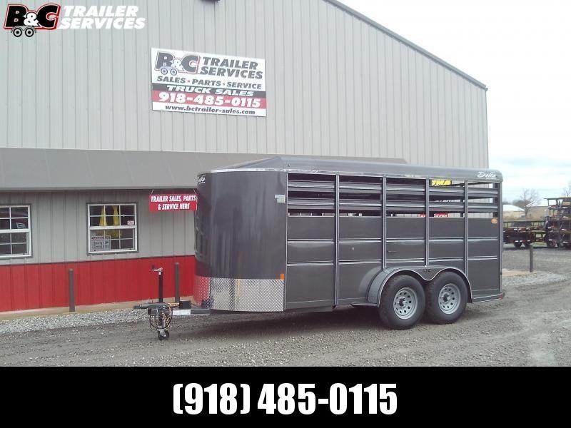 2020 Delta Manufacturing 16x6 500ES Livestock Trailer