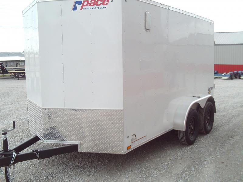 2021 Pace American NEW 2021 PACE 7X14  V NOSE ENCLOSED CARGO TRAILER Enclosed Cargo Trailer
