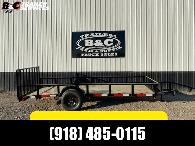 Longhorn Trailers 77X14 W\ 2' DOVE TAIL and 3' GATE