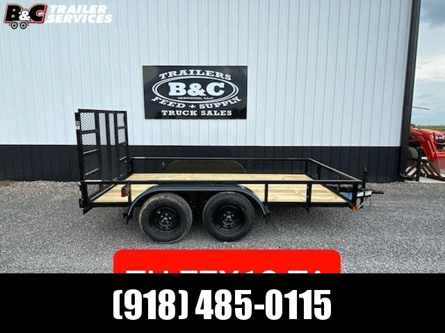 2021 Top Hat Trailers NEW 12X77 TANDEM AXLE UTILITY TRAILER Utility Trailer