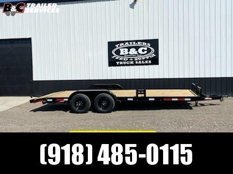NEW Longhorn Trailers LONGHORN 83X20 WOOD FLOOR CAR HAULER W\ 5200# AXLES Car / Racing Trailer