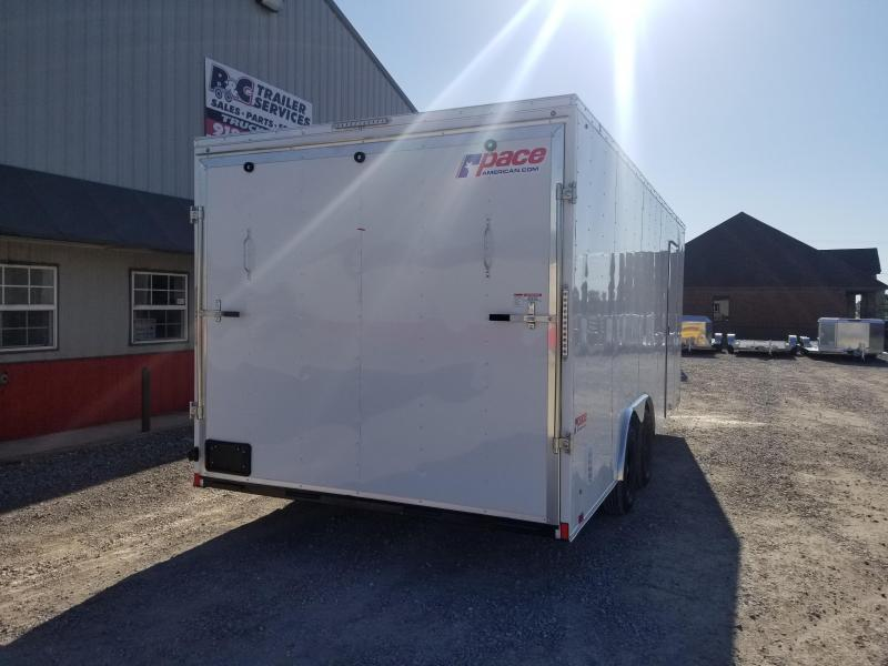2021 Pace American 2021 PACE AMERICAN 8.5X18 + V NOSE ENCLOSED CARGO \ CAR TRAILER Enclosed Cargo Trailer