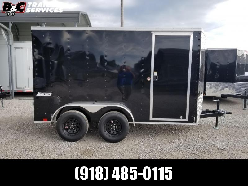 2021 Pace American NEW 2021 PACE AMERICAN 7X12 + V NOSE  ENCLOSED CARGO WITH REAR RAMP DOOR Enclosed Cargo Trailer