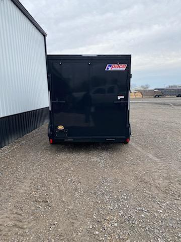 NEW 2021 7x16 + V NOSE w\ 7' interior height  blackout package
