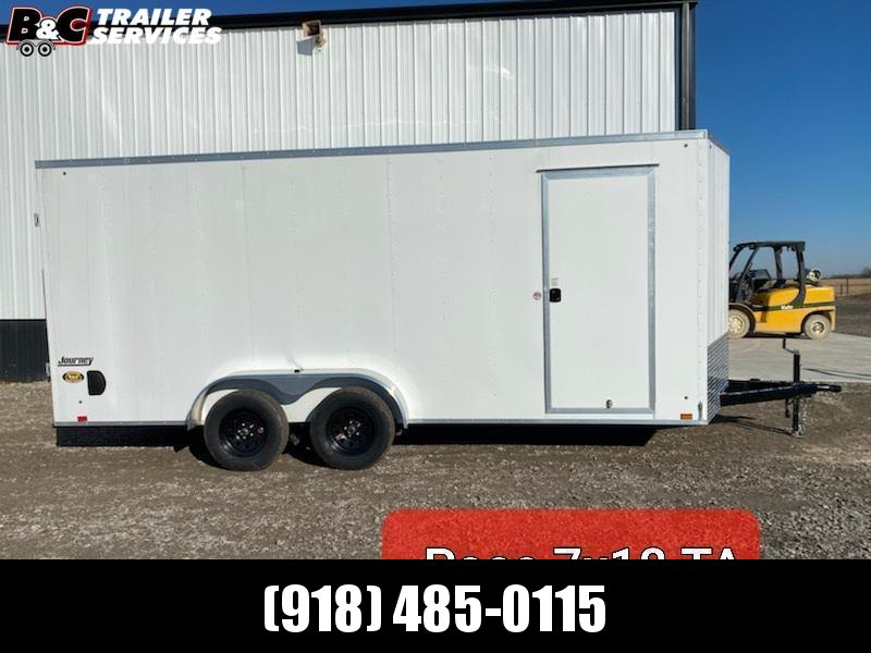 PACE AMERICAN 7X18 + V NOSE ENCLOSED CARGO TRAILER