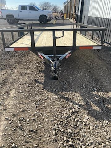 New 2020 Longhorn Trailers 77 X14 Utility Trailer w2' dove & 3' gate