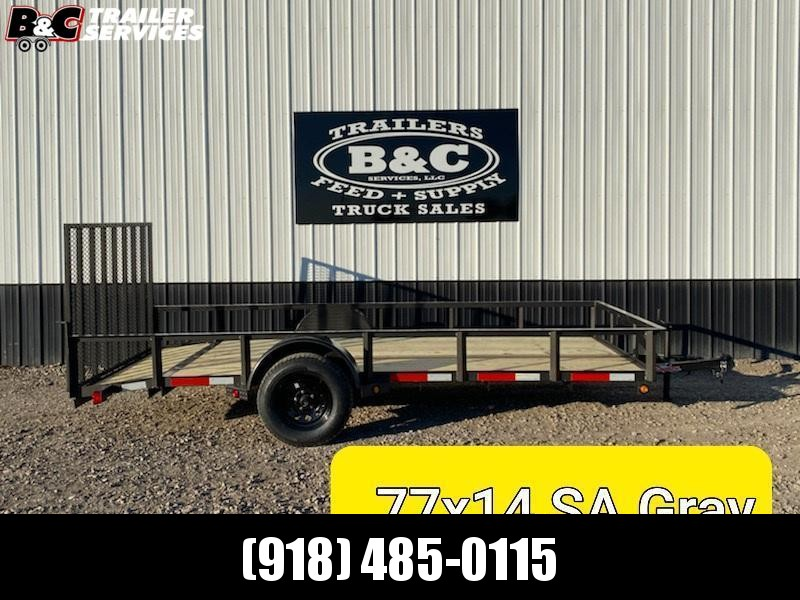 New 2020 Longhorn Trailers 77 X14 Utility Trailer w2' dove & 3' gate