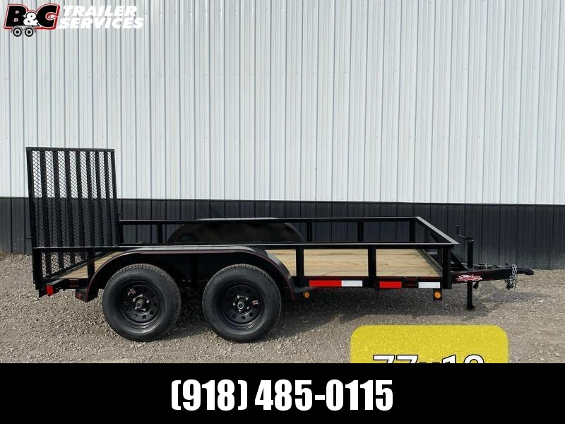"New 2020 Longhorn Trailers 77""X12' Tandem Axle Utility Trailer 3500# Axles"