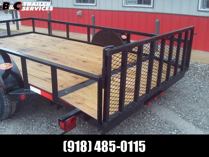 2020 Longhorn Trailers 77X12  DOVE TAIL &  3' GATE Utility Trailer